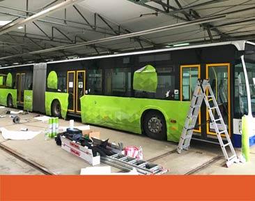 Beschriftung Bus GVB
