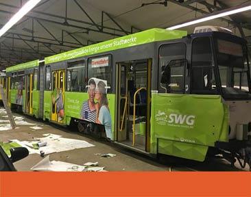 Beschriftung Strassenbahn SWG 2