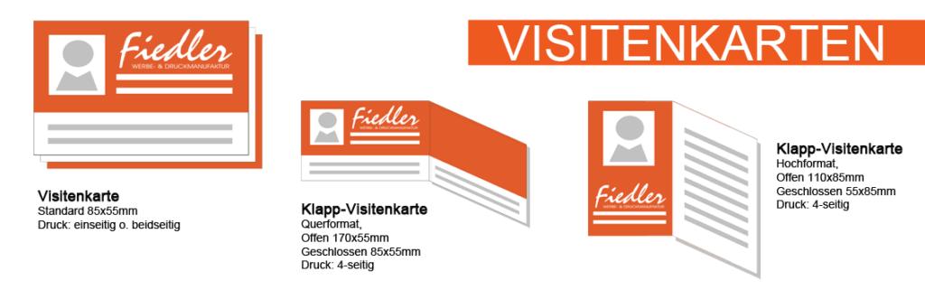 Visitenkarten standard und Klappvisitenkarten